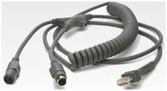 Motorola Coiled 9 Ft IBM 468X//9X Cable Port 5B CBA-M05-C09ZAR Symbol POS